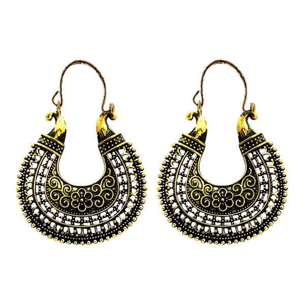 Urthn Antique Gold Plated Dangler Earrings