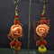 Shop Urthn Peach Floral Design Dangler Earrings