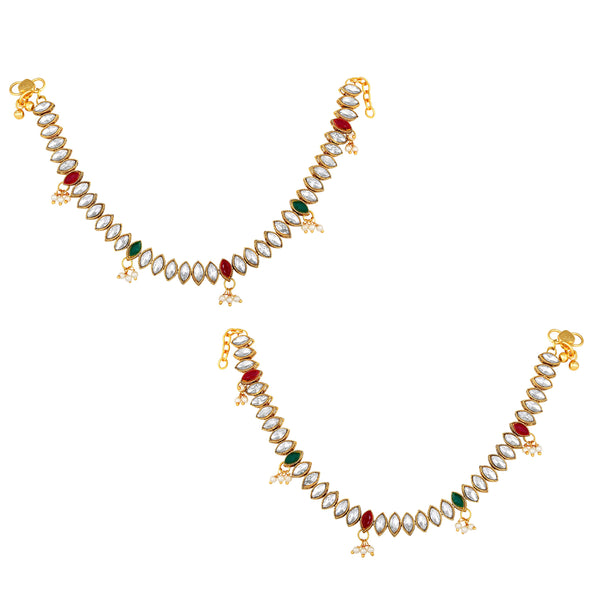 Asmitta Ethnic Wedding wear Gold toned Anklets for women