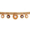 Asmitta Traditional Designer Gold Toned Anklets for women