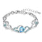 Mahi Lovely Valentine Heart Link Bracelet with Glittering Crystal