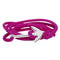 Mahi Anchor In Loop Rhodium Plated Adjustable Pink Rope Style Unisex Bracelet