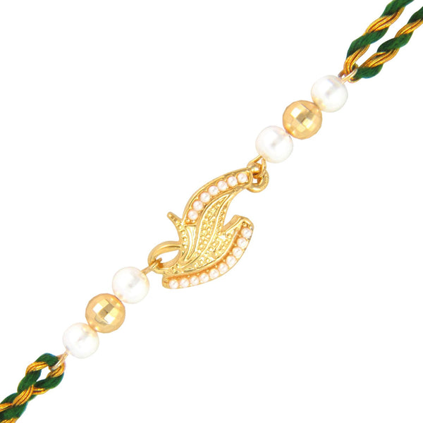 Mahi Gold Plated Siblings Rakhi with crystals