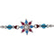 Mahi Rhodium Plated Sun Floral Rakhi with Crystals and Beads