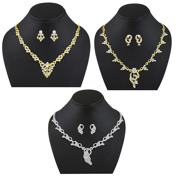 Asmitta Austrian Stones Necklace Set Combo