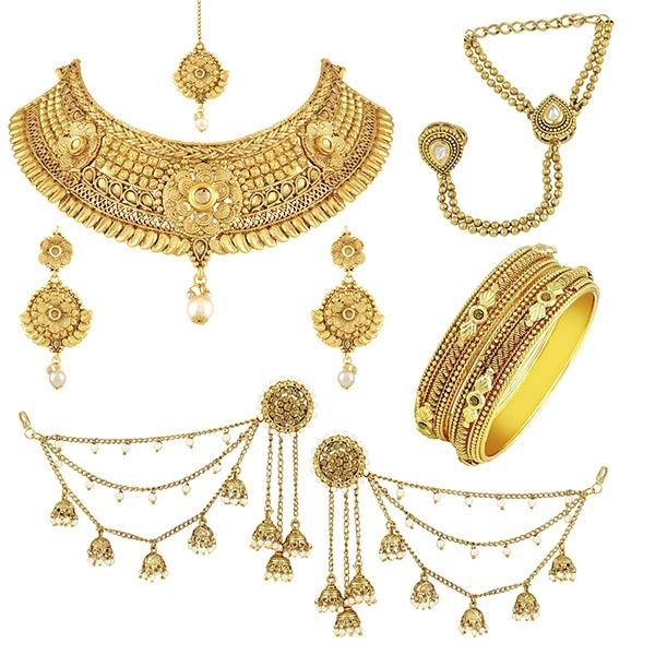 Asmitta Whole Wedding Collection Set Gold Plated Combo