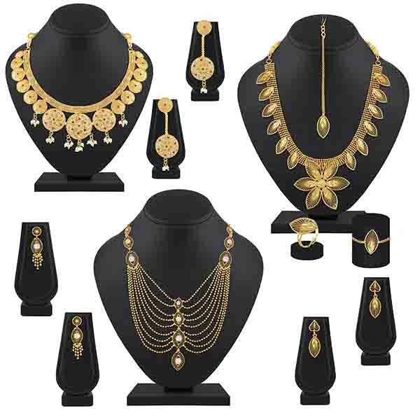 Asmitta Choker Design Gold Plated Necklace Combo
