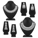 Asmitta Presents Choker Design In Silver Plating Necklace Combo