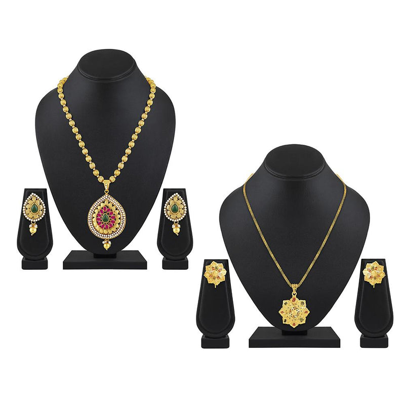 Asmitta Pack of 2 Designer Necklace Combo Set