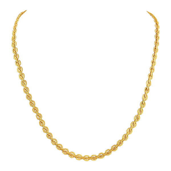 Asmitta Mens Fashion Neck Chain Gold Plated