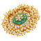 Mahi Ethnic Gold Plated Meenakari Adjustable Finger Ring for Women VFCJ100123