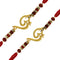 Mahi Combo of Twince Om Rudraksha Designed Rakhis Gold Plated for Brothers (Bracelet) CO1104642G
