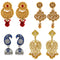 Mahi Combo of Traditional Dangler and Jhumki Earrings with Crystals for Girls and Women