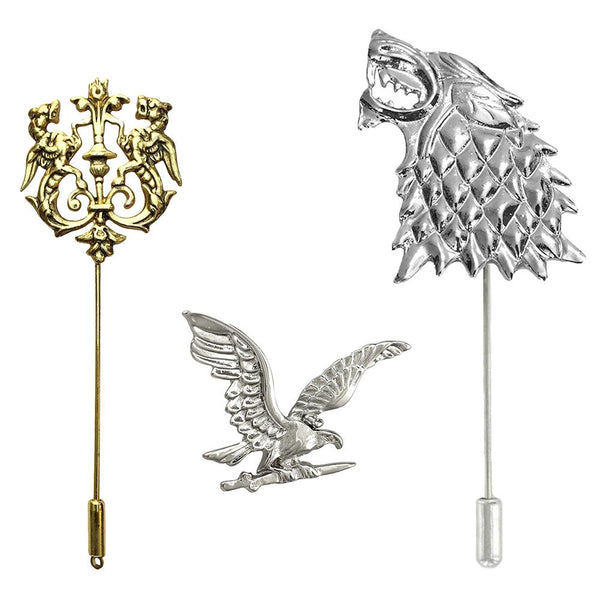 Mahi Trendy Combo of Lion, Eagle and Wolf Lapel Pin \ Brooch