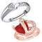 Mahi Combo of Heart Adjustable Finger Ring