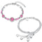 Mahi Rhodium Plated Combo of Lovely Heart Bracelets with Crystals for Women