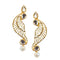 Aurum Kundan Gold Plated Leaf Dangler Earrings