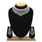 Emerald American Diamond Necklace With Touch Of Bottle Green Stones - EJAN0003