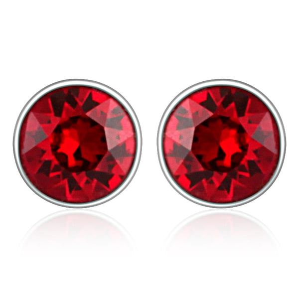 Mahi Red Bolt Earrings Made with Swarovski Crystals