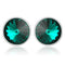 Mahi Bold Green Earrings Made with Swarovski Crystals