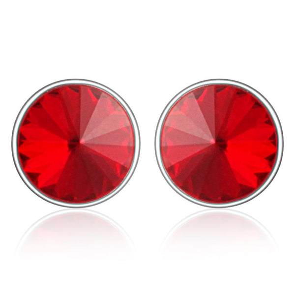 Mahi Bold Red Earrings Made with Swarovski Crystals