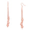 Mahi Rose Gold Plated Alluring Designer Long Dangler Earrings for girls and women