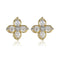 Estele 24Kt Gold Tone Plated Small Stud Earring With AD Stones