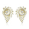 Estele 24Kt Gold Tone Plated White Ad Stone Stud Earrings