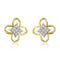 Estele 24Kt Gold And Silver Tone Plated AD Studs