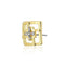 Estele 24Kt Gold Tone Plated Square Shaped Stud With AD Stone earrings