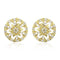 Estele 24Kt Gold Tone Plated Round Shaped Stud With AD Stone earrings
