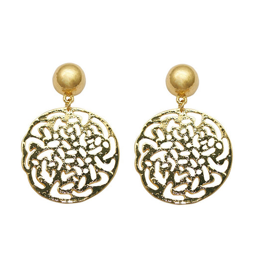 Beadside Gold Plated Dangler Earrings