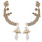 Eugenia White Austrian Stone Gold Plated Ear Cuff