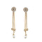 Eugenia White Austrian Stone Gold Plated Dangler Earrings