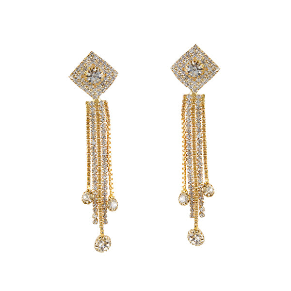 Eugenia Austrian Stone Gold Plated Dangler Earrings