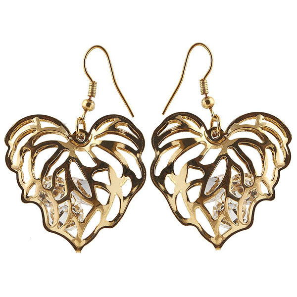 The99Jewel Austrian Stone Gold Plated Dangler Earring