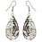The99Jewel Stone Rhodium Plated Dangler Earring - 1306438 - FS