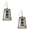 The99Jewel Stone Rhodium Plated Dangler Earring - 1306445 - FS