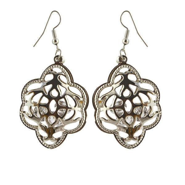 The99Jewel Antique Gold Plated Dangler Earrings - 1306446 - AS
