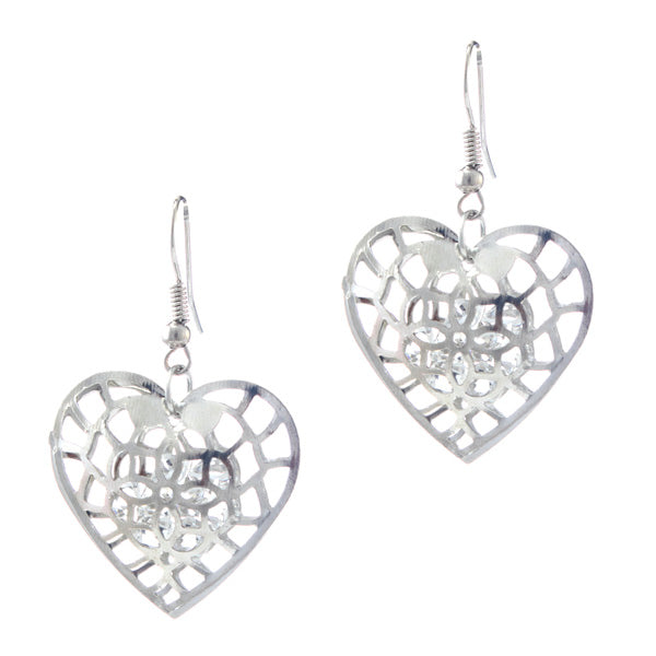 The99Jewel Zinc Alloy Silver Plated Stone Dangle Earring