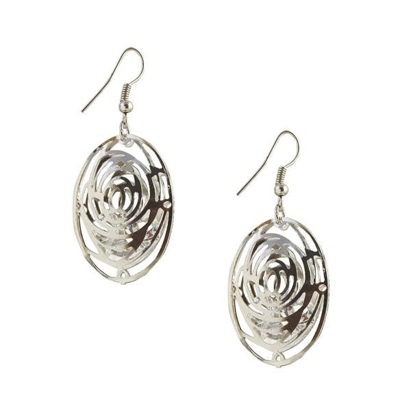The99Jewel Silver Plated Stone Dangler Earring - 1306437 - FS
