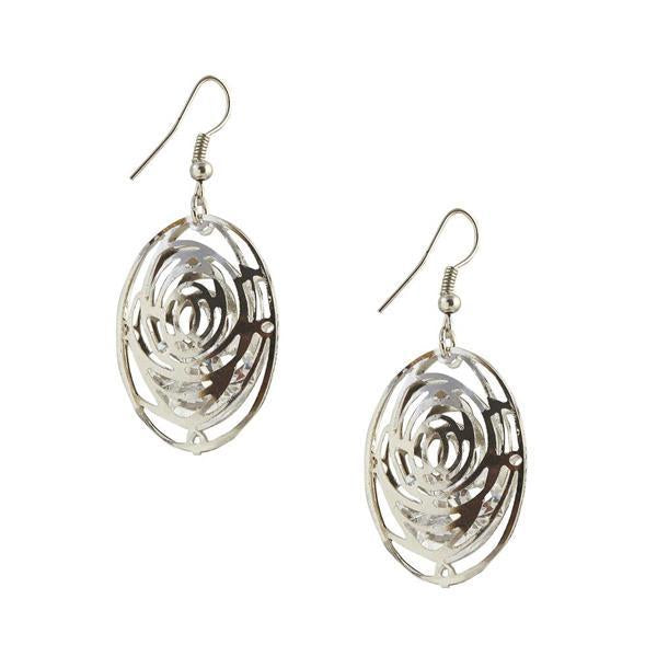 The99Jewel Silver Plated Stone Dangler Earring  - 1306437 - AS