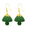 The99jewel Green Pearl Drop Gold Plated Thread Jhumki