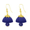 The99jewel Blue Pearl Drop Gold Plated Thread Jhumki
