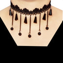 Jeweljunk Black Lace Adjustable Tattoo Choker Necklace