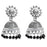 Jeweljunk Black Beads Austrian Stone Afghani Jhumki Earrings