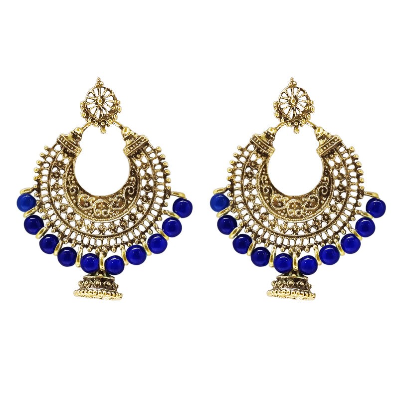 Jeweljunk Beads Antique Gold Plated Dangler Earrings
