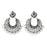 Jeweljunk Rhodium Plated White Beads Chandbali Earrings