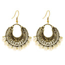Jeweljunk Antique Gold Plated Beads Dangler Earring