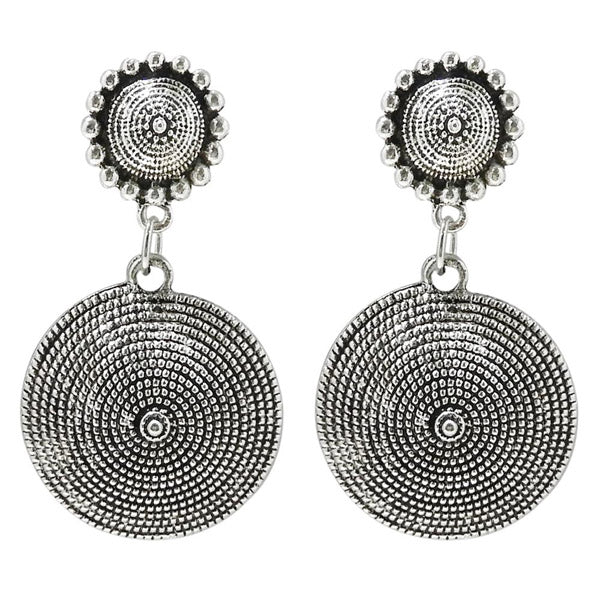 Jeweljunk Rhodium Plated Dangler Earring